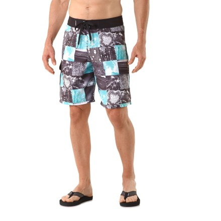 Surf Catch a wave and look good doing it with the flashy Arbor Origins board shorts. Viscose from bamboo/polyester blend fabric is moisture wicking and quick drying for comfort when you're in and out of the water. The Arbor Origins board shorts have a flat waistband with lace-up closure and rip-and-stick tab; neoprene fly improves comfort. Rip-and-stick cargo pocket on the right side holds a few small essentials; clip your keys to the internal shockcord loop. - $24.83