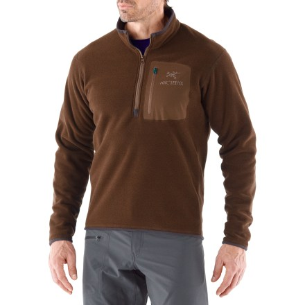Entertainment From the backcountry to the base lodge, the Arc'teryx Apache AR zip fleece pullover warms you up with elevated style. - $99.93