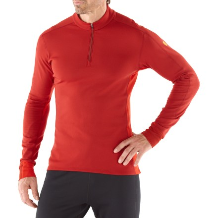 Fitness Perfect for stop-and-go activities on cool days, the Arc'teryx Phase SV Comp shirt excels on the running trail. Specially designed fabric wicks moisture and keeps you cool during high-output activity; when you're resting, the fabric dries quickly and helps regulate temperature. Fabric provides UPF 50+ sun protection, and encapsulated silver ions help fight odors. Zippered front offers instant ventilation, and dropped hem increases rear coverage during activity. Seamless underarm gussets promote a full range of shoulder motion. You'll run farther without chafing thanks to the flatlock seams. Rollover cuffs cover up fingers and hands. Arc'teryx Phase SV Comp shirt offers a slim fit. - $54.83