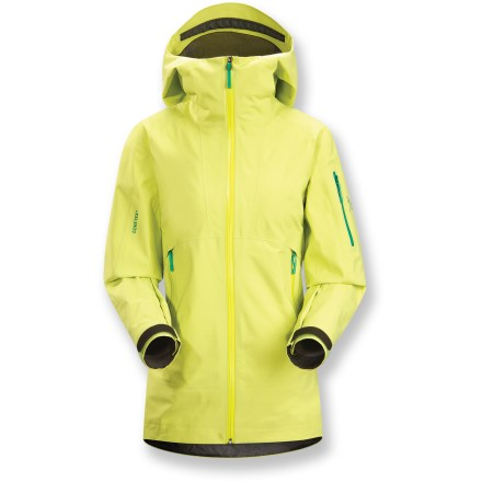 Ski Dedicated to snowsports-climbs and descents-the women's Arc'teryx Sentinel jacket delivers maximum weatherproof protection in a quiet, relaxed fit and sleek appearance. - $274.83