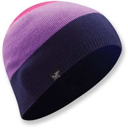 Entertainment The Arc'teryx Charlie Toque hat is made with a stretchy blend of acrylic and spandex for a close fit. 3 bold stripes liven up your look for winter. - $14.83
