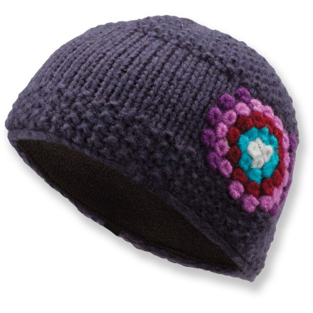 Entertainment The Arc'teryx Hepcat hat is embroidered with a colorful crocheted flower to bring a lively look to winter. Merino wool and acrylic blend is lined at the earband with soft polyester microfleece for great comfort. - $23.93