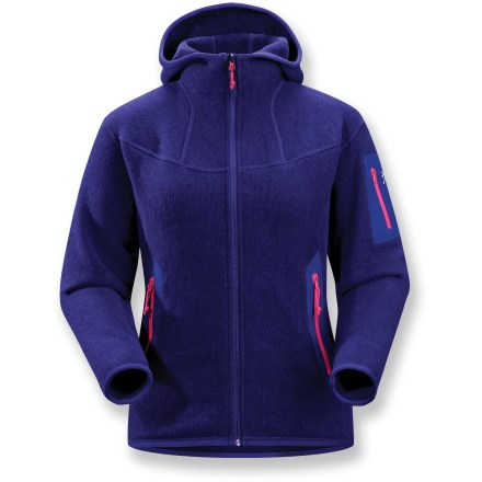 Camp and Hike The women's Covert Hoodie from Arc'teryx is a breathable fleece hoodie with casual, yet outstanding style. It's ideal for layering or as a stand-alone jacket. - $98.83