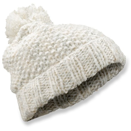 Ski The Arc'teryx Evie Toque beanie is exceptionally soft, and offers a fun slouch fit. Acrylic/polyester blend yarn offers amazing warmth, and is moisture wicking and quick drying for all-day comfort. Large pom pom on top. Closeout. - $16.83