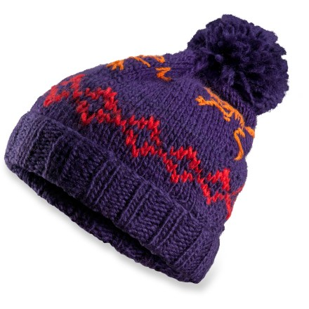 Ski The Arc'teryx Sarah Toque beanie offers a stylish slouch fit and a large fluffy pom pom on top. Wool and acrylic blend supplies the best attributes of both: the natural warmth and durability of wool and the easy care and softness of acrylic. Closeout. - $17.83