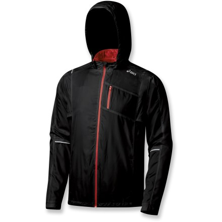 Fitness The ASICS Reflector jacket helps you stay dry, warm and safe during runs in the dark. - $43.83