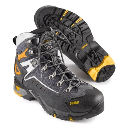 Camp and Hike These lightweight, three-season Asolo Flame GTX hiking boots offer support, shock absorption and grip so you can focus on the beautiful scenery and not on your feet. - $121.83