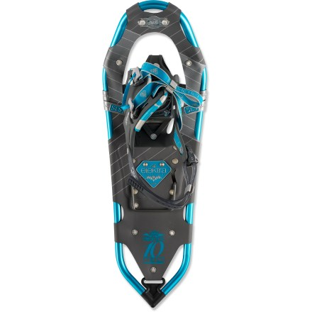 Camp and Hike Stride confidently in the women's Atlas Elektra 1023 snowshoes-gender-specific articulation, aggressive traction and fatigue-reducing features make these a great choice for day hiking. - $159.93