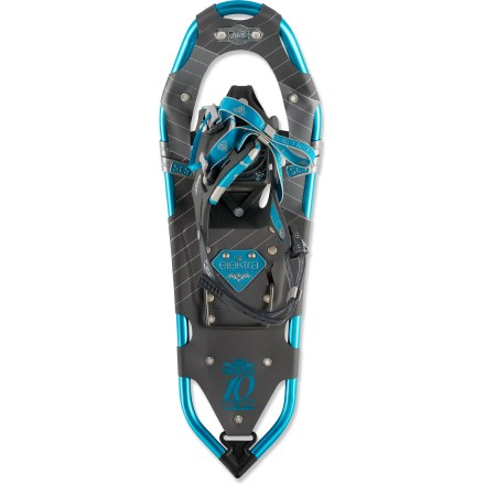Camp and Hike The women's Atlas Elektra 1027 snowshoes make getting lost in the woods fun again, with gender-specific articulation, aggressive traction and fatique-reducing features for your comfort. - $139.83