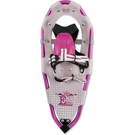 Climbing Girls will be eager to explore winter terrain with the Atlas Echo snowshoes, which offer many of the same performance features as adult-size snowshoes. - $63.93