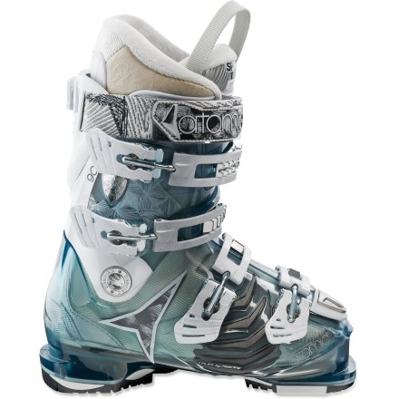 Ski Geared toward having fun at high speeds, the women's Atomic Hawx 90 W ski boots deliver toe-comforting warmth and great looks. - $189.83