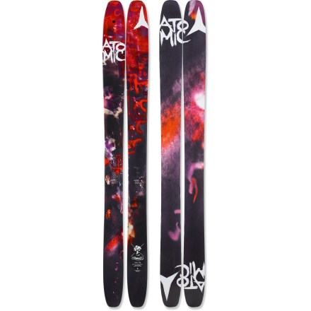 Ski Tough, surfy and ready for anything, the Automatic sits at the pinnacle of the freeski powder category for Atomic. Atomic Automatic skis were made for the deepest of the deep, the fluffiest of the fluff, and the softest of the soft, but they also transition well onto groomed runs. Wood core provides smooth handling at high speeds and in deep powder; titanium reinforcements in tips and tail increase stability, and smooth out the rockered tips. Early rise in the tip and tail enhances powder skiing forward or switch; traditional camber underfoot enhances edge grip on firm snow. Cambered section is slightly longer than in the Bent Chetler skis with less tail rocker, creating a more directional ski. Sidewall construction ensures maximum torsional rigidity, uncanny edge grip and controlled tip-to-tail flex; sidewall is reinforced in binding area with 3 layers. Half cap construction in tip and tail reduces swing weight and chipping when your skis bang together. Directional twin-tip design offers increased performance in varied snow conditions and during backcountry freestyle maneuvers. Atomic Automatic skis feature a graphite base that tunes beautifully and accepts wax readily. Requires binding with wide brakes. Base or topsheet color may vary from online photo. - $605.93