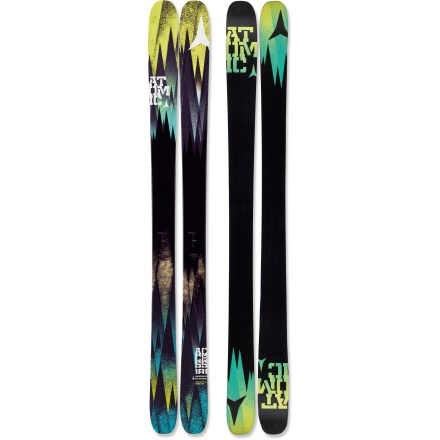 Ski The Atomic Access skis are ready to carve some fresh lines into the backcountry pow. These skis were made for the deepest of the deep, the fluffiest of the fluff, and the softest of the soft, but they also transition well onto groomed runs. Portly 100mm waist and lightweight design floats and turns with ease in powder. Wood core provides smooth handling at high speeds and in deep powder snow. Early rise in the tip and tail enhances powder skiing forward or switch; traditional camber underfoot enhances edge grip on firm snow. Traditional camber of the Access extends back farther toward the tail to enhance power at the end of the turn and increase control on groomed runs. Sidewall construction ensures maximum torsional rigidity, uncanny edge grip and controlled tip-to-tail flex; sidewall is reinforced in binding area with 2 layers of material. Half cap construction in tip and tail reduces swing weight and chipping when your skis bang together. Directional twin-tip design offers increased performance in varied snow conditions and during backcountry freestyle maneuvers. Graphite base tunes beautifully and accepts wax readily. Atomic Access skis require bindings with wide brakes. Base or topsheet color may vary from online photo. - $298.83
