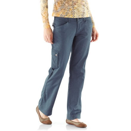 Entertainment The Aventura Shelton pants feature a relaxed fit for casual outings or days hanging around the cabin. Soft ramie/organic cotton/spandex blend fabric breathes well and moves with you. Zippered fly with button closure, side cargo pocket and hand pockets. Aventura Shelton pants feature a mid-rise fit. - $49.93