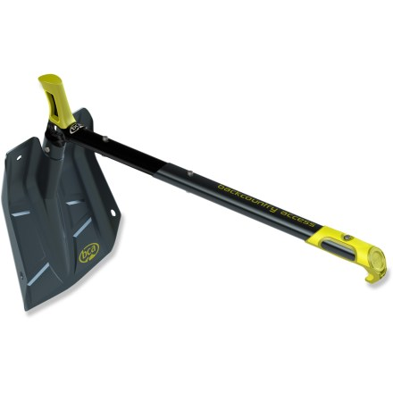 Climbing Dig like a machine with the Backcountry Access Dozer(TM) Hoe D-2 EXT avalanche shovel. Easily converts between a hoe and standard shovel to move massive amounts of snow when you're digging snow pits or searching for a victim. Positive grips on the shaft and blade give you a solid hold on the shovel for efficient digging; shaft grip cradles your hand similar to a leashless ice tool. Aluminum blade and shaft are light and strong. Shovel weighs 936g (2 lbs.) and is 81.1cm (2 ft. 8 in.) in the extended shovel configuration; measures 62.6cm (2 ft.) in the extended hoe configuration. Backcountry Access Dozer(TM) Hoe D-2 EXT avalanche shovel collapses down to 47cm (1 ft. 6.5 in.) to stow in your backpack. - $79.95