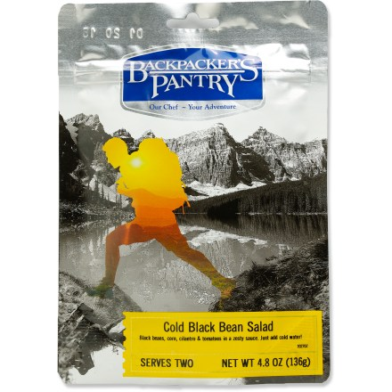 Camp and Hike Add a new item to your camping menu with the Backpacker's Pantry Cold Black Bean salad. - $7.50