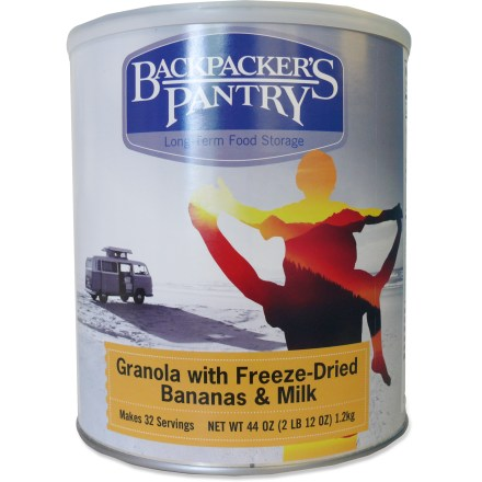 Camp and Hike Get your day started with a helping of Backpacker's Pantry Granola with Freeze-Dried Bananas and Milk. - $24.93