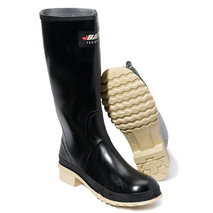 These tall Baffin Prime rain boots are the prime choice for keeping feet dry in even the wettest of weather. Tuck your pants into the tall rubber uppers to keep yourself rain- and puddle-splash-free. Shaft circumference is 16 in. and based on size 7; measurement is for the outside of the boot shaft and, in general, the internal measurement is roughly 1 in. shorter. Thin synthetic linings provide just enough cover to the rubber to wick moisture away from your feet and make boots comfortable to wear. Gel-Flex shock-absorbing heels and midsoles provide all-day cushion and comfort. Rubber outsoles on the Baffin Prime rain boots feature high-abrasion, self-cleaning lugs for traction in wet and muddy conditions. - $16.83