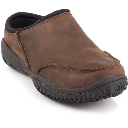 The Baffin Scott Winter clogs offer versatile warmth and style. Wear them to the office, the market or while exploring the fresh snow. Timberwolf nubuck leather uppers are treated and seam sealed to keep moisture out while maintaining flexibility; resists water damage and the salt marks easily wipe clean. Synthetic insulation keeps feet toasty warm; soft polyester linings offer warmth and softness. EVA midsoles provide comfortable cushion with every step. Rubber outsoles stay flexible in the cold and deliver solid traction and support on snow and wet surfaces. Closeout. - $46.83