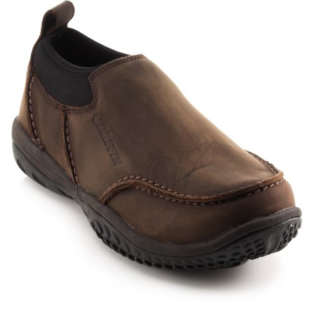 Sure to be your go-to shoes for winter, the Baffin Ryan winter clogs slip on easily and are comfort rated down to temperatures below freezing. Nubuck leather uppers feature waterproof membranes and completely sealed seams for a total shield against the elements. Synthetic insulation offers warmth and comfort in conditions down to -4degF. Removable thermal insoles help reduce heat loss to the ground. EVA midsoles cushion feet for all-day tromping around outside. Exclusive Icepaw rubber outsoles on the Baffin Ryan clogs provide excellent traction on snowy terrain. Closeout. - $84.93