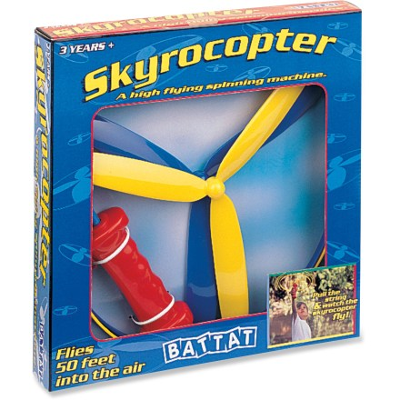 Camp and Hike The Battat Skyrocopter helicopter toy flies up to 50 ft. in the air with the easy pull of a string. Comes with 2 Skyrocopters and 1 release handle. - $5.93