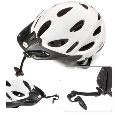 Fitness Made specifically to fit the Bell Citi helmet, this mirror folds cleanly into the helmet's visor when not in use. Mirror features a high-quality, infinitely adjustable optic mirror. Mirror folds out of the way and nestles seamlessly into the visor when not needed. - $15.00