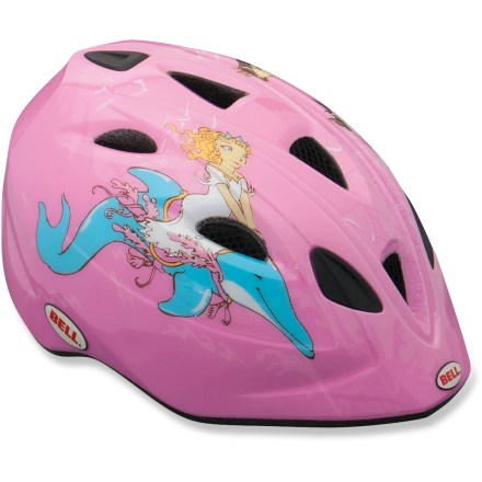 Fitness The toddlers' Bell Tater bike helmet not only offers a fun design, but plenty of protection and an easy-to-use strap system to simplify getting the helmet on and off. - $16.93
