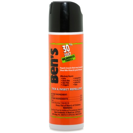 Camp and Hike Ben's 30% DEET Eco Spray insect repellent provides up to 6 hrs. of protection against mosquitoes, ticks, flies, chiggers, fleas and no-see-ums. - $7.00