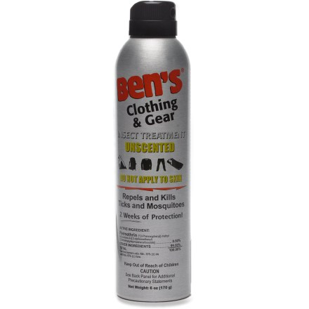 Camp and Hike Spray Ben's Clothing and Gear repellent directly on clothes, tents, backpacks and other equipment to keep biting insects away. - $6.95