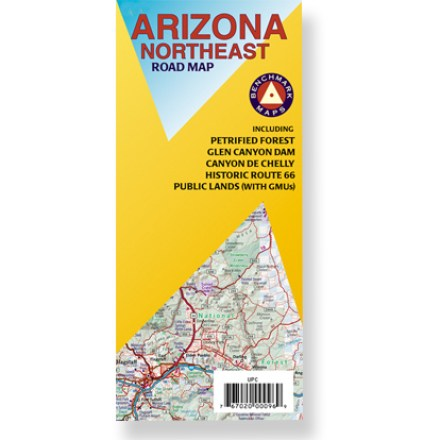 Plan your next adventure in northeastern Arizona with this handy road map! Offers information on recreation, campgrounds, parks and wilderness areas. Map features public lands detail and an index of cities and towns. Map unfolds to 32 x 27 in. Printed on waterproof, tear-proof plastic material. Scale 1:400,000. Benchmark Maps; copyright 2007. - $2.93
