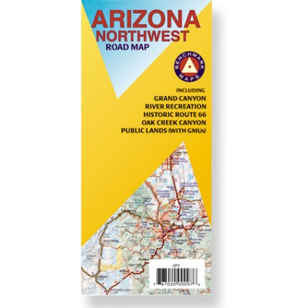 Plan your next adventure in northwestern Arizona with this handy road map! Offers information on recreation, campgrounds, parks and wilderness areas. Map features public lands detail and an index of cities and towns. Map unfolds to 36 x 27 in. Printed on waterproof, tear-proof plastic material. Scale 1:400,000. Benchmark Maps; copyright 2007. - $2.93