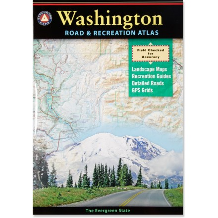 Camp and Hike Explore the beautiful Evergreen State with the unparalled information and detail of the Washington Road and Recreation Atlas. - $22.95
