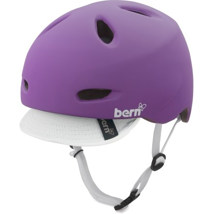 BMX The Bern Berkeley ZipMold bike helmet works great for commuting, errands or just plain riding for fun, offering great modern looks and protection. ZipMold(TM) construction injects high-impact liquid foam and fuses it to a lightweight PVC shell for a seamless, low-profile fit and a high strength-to-weight ratio. Removable visor offers protection from sun and inclement weather, and a touch of style. Sink Fit helmet design offers a low-profile style and fit that's been ergonomically engineered for comfort. Air channels pull air through front vents and allow air to exit through back vents. Designed for all season use, with a winter knit liner and goggle clip that can be snapped in for cold weather or for snow sports (kit not included). Bern Berkeley ZipMold bike helmet meets ASTM F 2040, CPSC and EN 1078 standards for bike and skate use. - $79.95