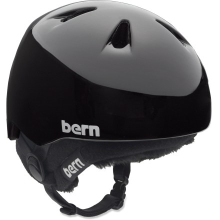 Ski The Bern Nino multisport helmet is ready for bike rides and ski trips. Lightweight PVC shell with seamless ZipMold(TM) liquid foam technology provides a high strength-to-weight ratio. Helmet adjusts 2 sizes to accommodate growth. 7 vents keep head cool. Patent-pending, snap-in clip system allows cold-weather liner integration. Bern Nino helmet meets ASTM F 2040 standard for snow and ski, and CPSC and EN 1078 for bike and skate. Special buy. - $40.83