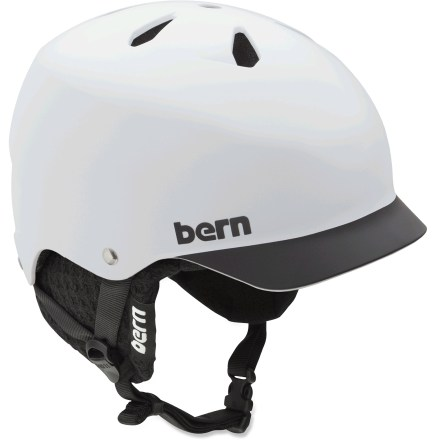 Ski The Bern Watts multisport helmet features a built-in visor to keep the sun or rain out of your eyes. Hard and tough, molded ABS shell is backed with an expanded polystyrene (EPS) liner for excellent impact protection. Sink Fit helmet design offers a low-profile style and fit that's been ergonomically engineered for comfort. Includes a removable winter liner to keep you warm when the temperature drops. Bern Watts helmet meets ASTM F 2040 and EN 1077B standards for snow and ski, CPSC and EN 1078 standards for bike and skate. Overstock. - $62.93
