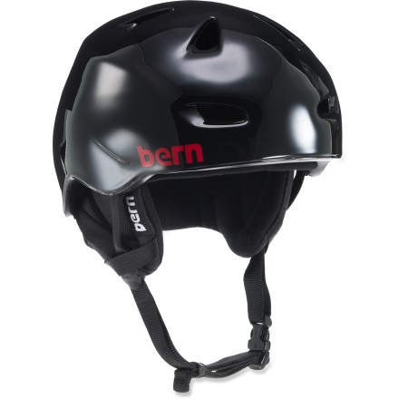 Ski The Bern Brentwood snow helmet is a great choice for athletes that enjoy multiple activities. Lightweight PVC shell with seamless ZipMold(TM) liquid foam technology provides a high strength-to-weight ratio. Sink Fit helmet design offers a low-profile fit so it doesn't look like a spaceship landed on your head! Air channels pull air through front vents and allow air to exit through back vents. Patent-pending, snap-in clip system allows winter weather liner integration; remove the liner for summer play. Bern Brentwood helmet meets ASTM F 2040 standard for snow and ski use, and CPSC and EN 1078 for bike and skate use. Special buy. - $66.73
