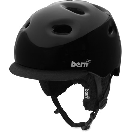 Ski The Bern Cougar snow helmet is ready for a day of zipping around the mountain. - $53.73