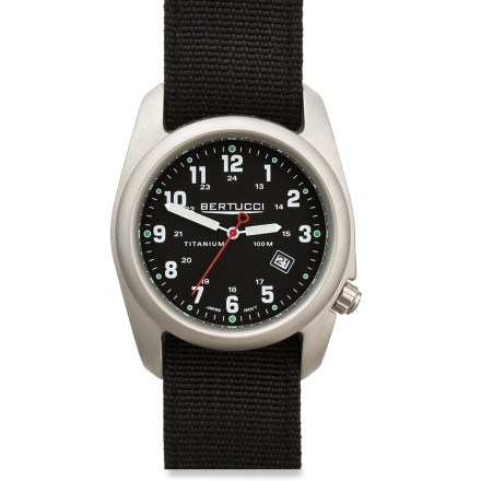 Entertainment This analog watch is sleek enough to wear indoors and rugged enough to use outdoors. - $100.00