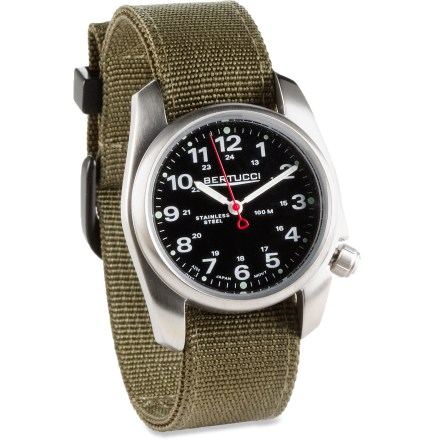 Entertainment The classic M.H. Bertucci A-1S Series watch is the epitome of no-frills function and style. It offers long-lasting durability and elegant simplicity in an affordable design. - $59.93