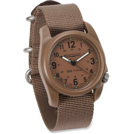 Entertainment The Bertucci DX3 field watch has a clean appearance that's well-suited for work, yet offers outstanding performance and durability for play. - $60.00