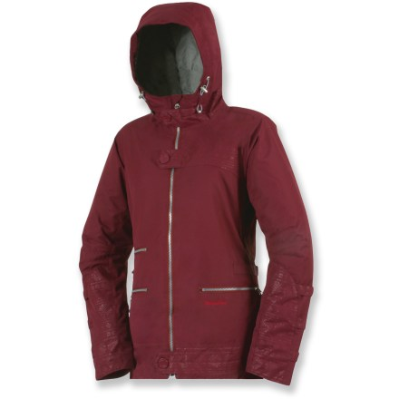 Snowboard Ride to your heart's content in the Betty Rides All Mountain Widow jacket, offering insulation in a waterproof shell that will keep you cozy in the snow - $132.83