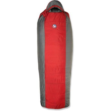 Camp and Hike Bring extra comfort to your backcountry slumber with the Big Agnes Encampment 3-season sleeping bag that is cut to allow roll-over room. - $58.83