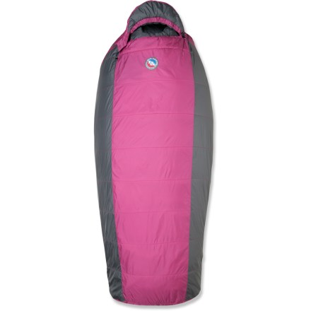 Camp and Hike This Big Agnes Lulu sleeping bag for women is roomier than a traditional mummy bag and features quick-drying synthetic insulation for warmth in damp weather. - $86.83