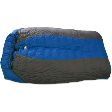 Camp and Hike Offering the same great features as a single Big Agnes sleeping bag, the spacious King Solomon +15F double bag is designed to sleep 2 people comfortably. - $334.93