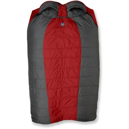 Camp and Hike Designed to sleep 2 people comfortably, the Big Agnes Cabin Creek spacious double bag offers the same great features as a single Big Agnes sleeping bag. - $269.95