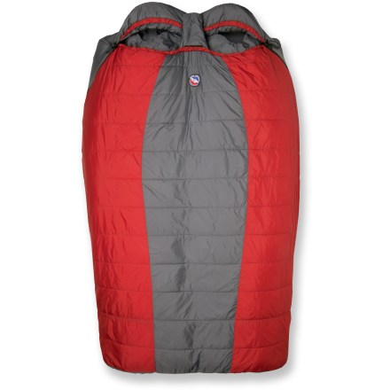 Camp and Hike The Big Agnes Cabin Creek 30degF spacious double bag is designed to sleep 2 people comfortably and provide the same great features as a single Big Agnes sleeping bag. - $239.95