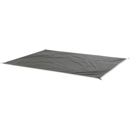 Camp and Hike Big Agnes King Creek 6 footprint extends your tent's life by protecting the floor from abrasion and excess wear. Sizing specific to the tent prevents water from pooling between the tent and footprint in rainy weather. Webbing stake-outs at tent corners provide easy attachment. Closeout. - $29.83