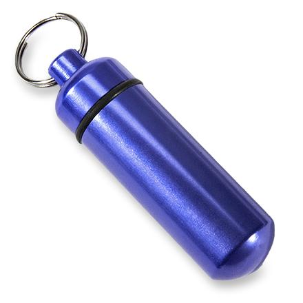 This keychain features a small, watertight capsule to store small essentials or a itty bitty geocache. - $4.25