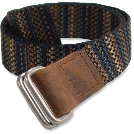 Entertainment The Bison Designs Rec D belt features an attractive pattern of brown, tan, navy and olive. - $10.83