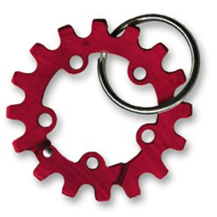 Climbing The Bison Designs Sprocket Biner keychain keeps your keys organized; its bright color makes it easy to locate. Features an anodized aluminum body with spring-loaded gate and 1 in. split ring. Not intended for climbing. - $2.93